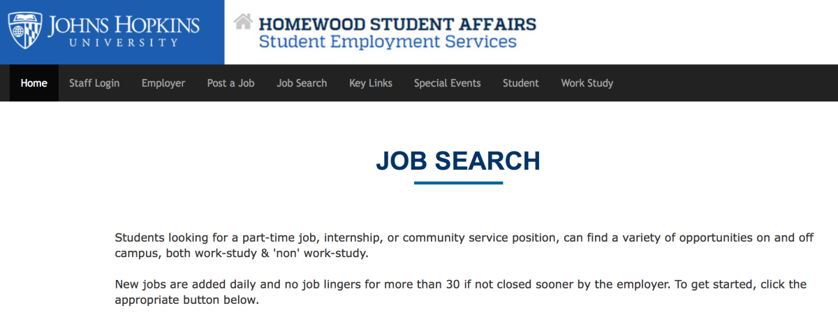 Why the SES Job Search Portal is the Best Way to Find a Job at JHU