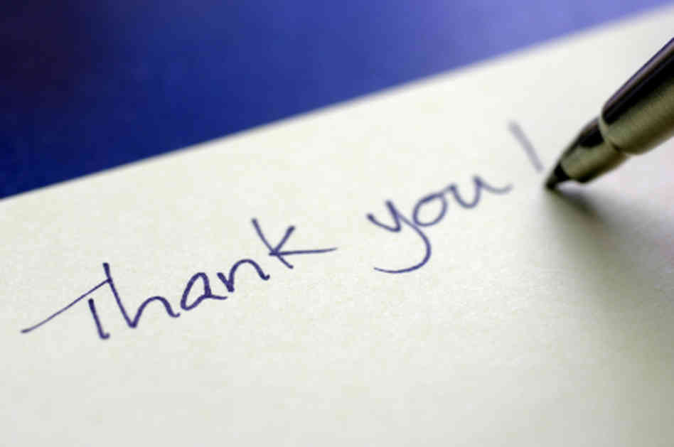 The Art of the Thank YouNote